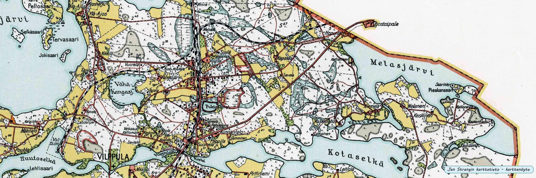 Vimpelin pitäjänkartta v. 1931