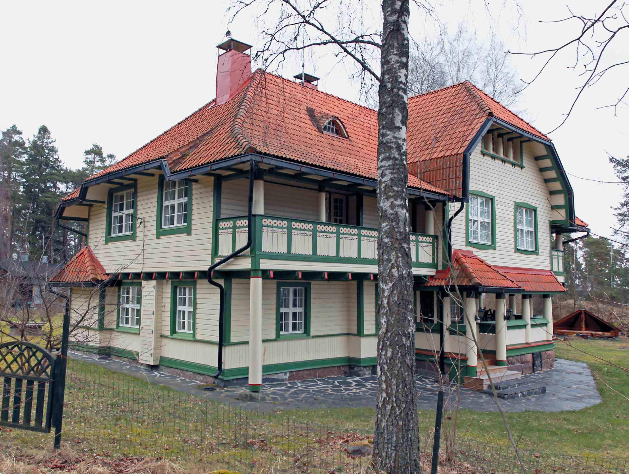 Vartiosaari - Huvila Wådötorp vuodelta 1905. Kuva © Jan Strang 18.10.2014.